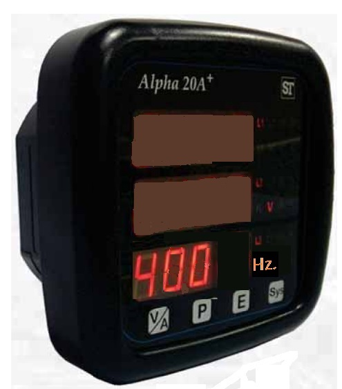 Alpha20+ 400Hz. ANSI style panel meter