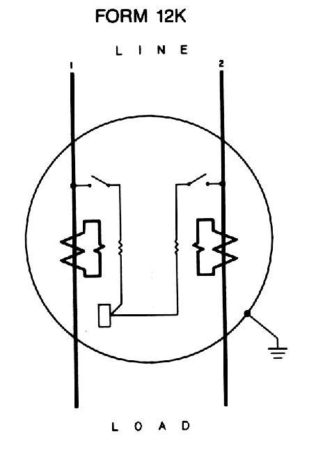 residential meter socket wiring diagram